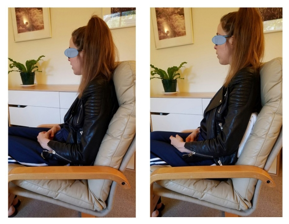 Figure 5 sitting with and without pillow