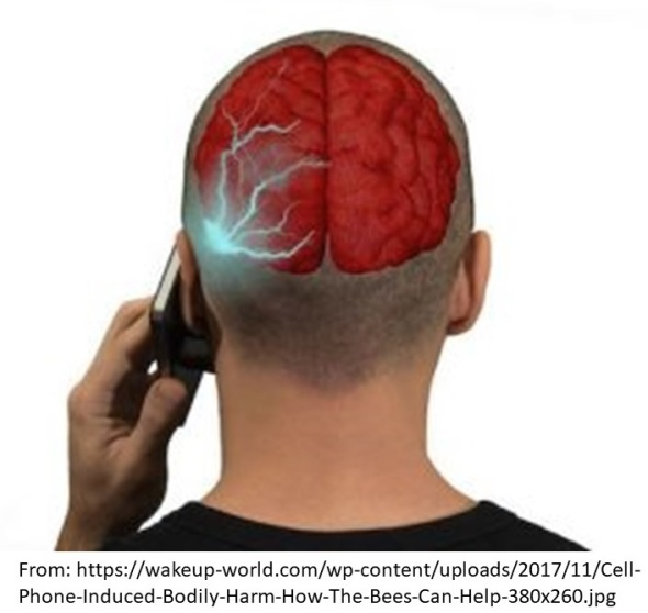 cellphone radiation with source